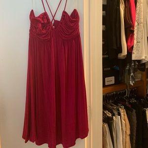 Tart magenta crossback babydoll dress